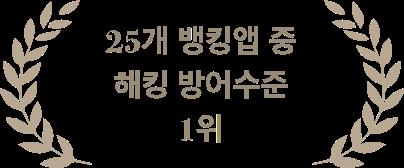25개 금융앱 해킹방어수준 종합 1위